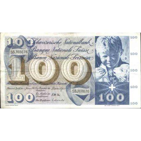 Billete de banco colección Suiza - PK N° 49 - 100 FRANCO