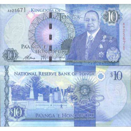 Banknote Tonga collection - km No N° 999 - 10 Pa' anga