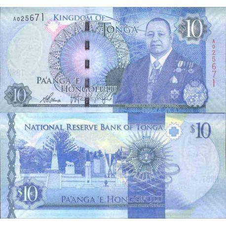 Billets de collection Billet de banque collection Tonga - PK N° 46 - 10 Pa'anga Billets du Tonga 17,00 €