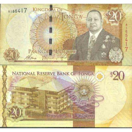 Billete de banco colección Tonga - PK N° 999 - 20 Pa' anga