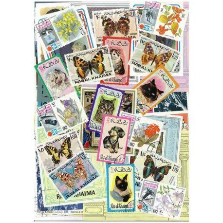 Ras Al-Khaima - 50 verschiedene Briefmarken