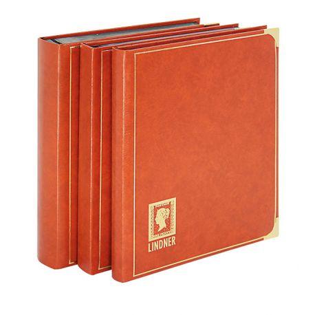 """Einsteckbuch A4 für Briefmarken """"königlich"""" von 24 bis 60 schwarze Seiten"""