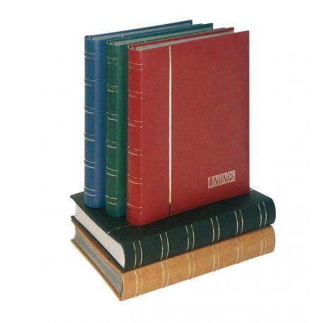 Lindner Classeurs A4 pour timbres 'ÉLÉGANT' Nubuk pages blanches