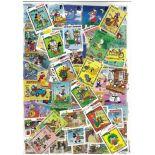 Colección de sellos Redonda usados