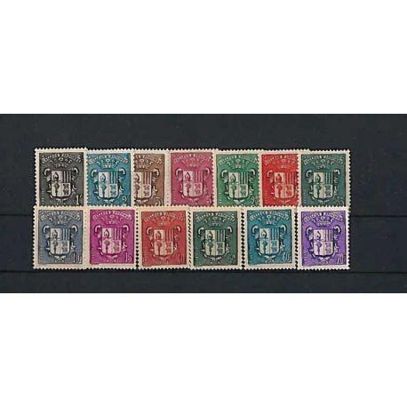 Andorre Français Année 1937 Complète timbres neufs