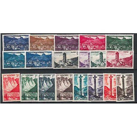 Francese Andorra anno completo 1955 Nuovo non linguellato Francobolli