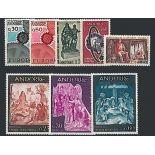 Französisches Andorra vervollständigt Jahr 1967 neue Briefmarken