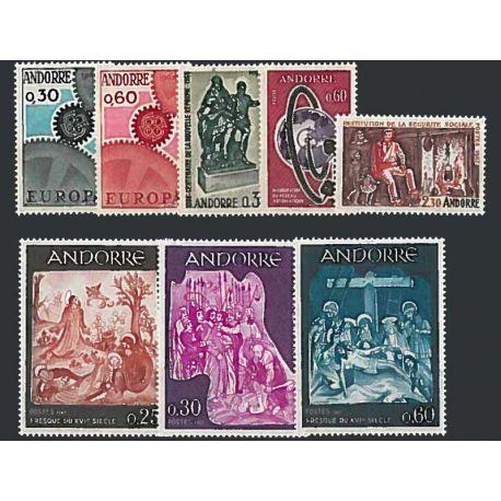 Francese Andorra anno completo 1967 Nuovo non linguellato Francobolli