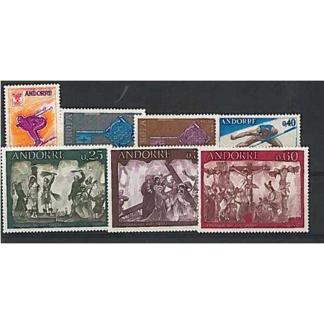 Französisch Andorra ganzes Jahr 1968 Briefmarken postfrisch