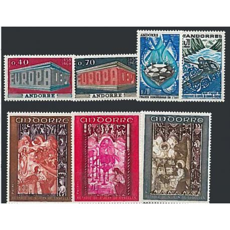 Francese Andorra anno completo 1969 Nuovo non linguellato Francobolli