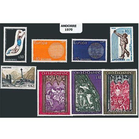 Französisch Andorra ganzes Jahr 1970 Briefmarken postfrisch