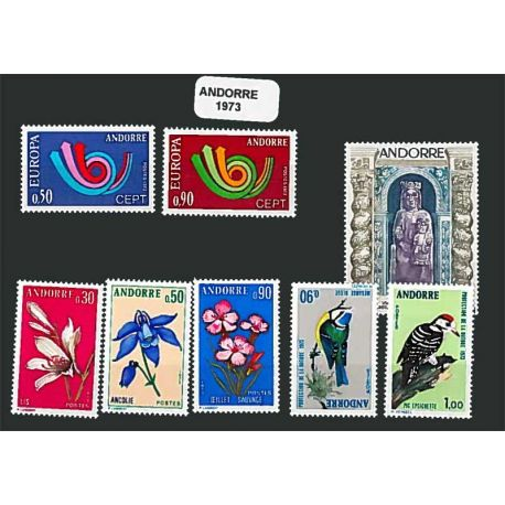 Andorre Français Année 1973 Complète timbres neufs