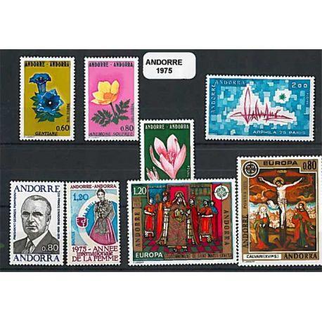 Andorre Français Année 1975 Complète timbres neufs