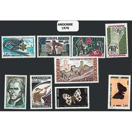 Französisch Andorra ganzes Jahr 1976 Briefmarken postfrisch
