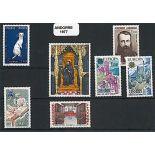Andorre Français Année 1977 Complète timbres neufs
