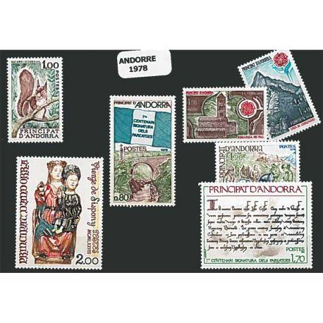 Andorre Français Année 1978 Complète timbres neufs