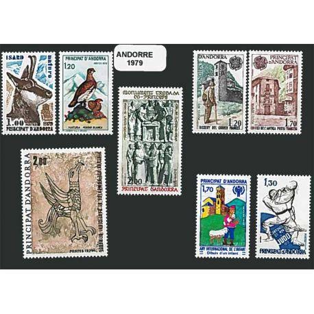 Französisch Andorra ganzes Jahr 1979 Briefmarken postfrisch