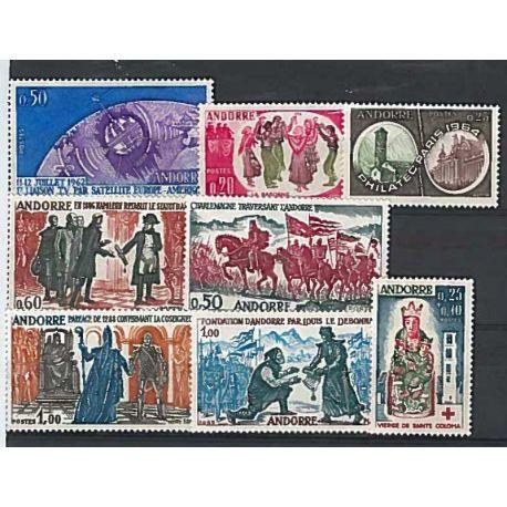 Französisch Andorra ganzes Jahr 1962/64 Briefmarken postfrisch