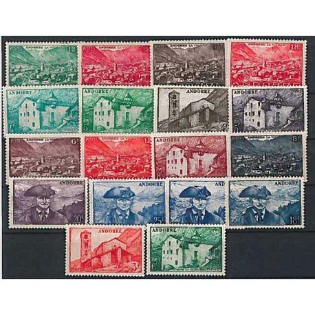 Timbre Andorre 1948/51 Année complète neuve
