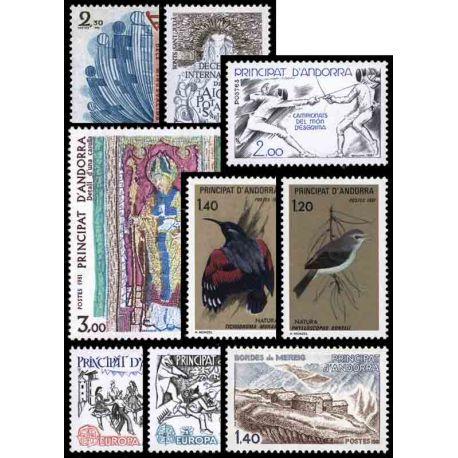 Andorre Français Année 1981 Complète timbres neufs