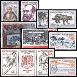 Französisches Andorra vervollständigt Jahr 1982 neue Briefmarken