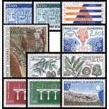 Andorre Français Année 1984 Complète timbres neufs