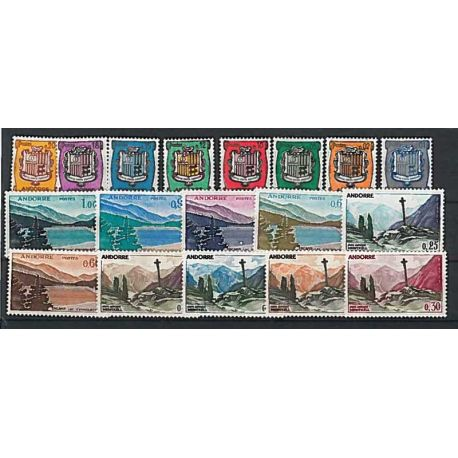 Andorre Français Année 1961 Complète timbres neufs