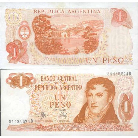 Banknote Argentinian collection - Pick N° 287 - 1 Peso