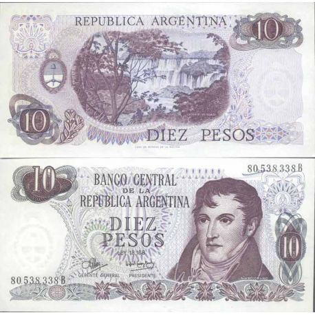 Banknote Argentinian collection - Pick N° 289 - 10 Pesos
