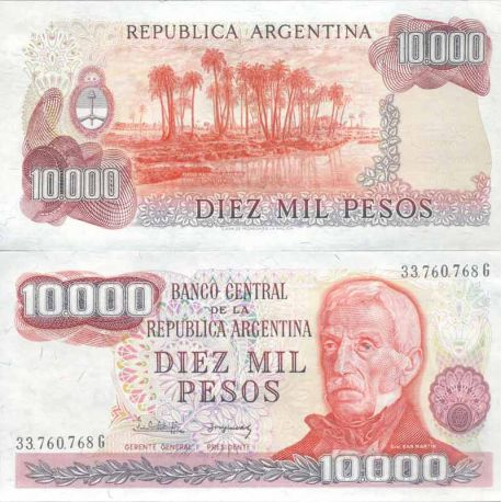 Banknote Argentinian collection - Pick N° 306 - 10000 Pesos
