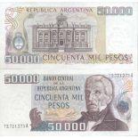 Billet de banque collection Argentine - PK N° 307 - 50 000 Pesos