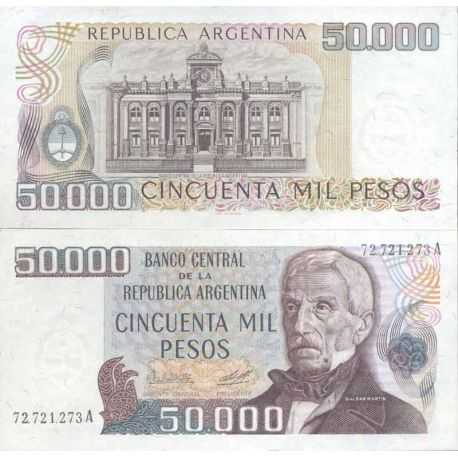 Banknote Argentinian collection - Pick N° 307 - 50,000 Pesos