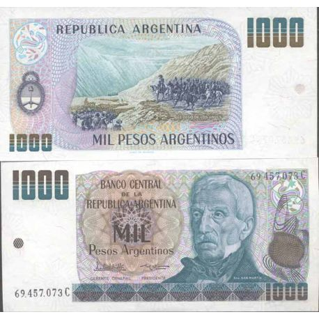 Banknote Argentinian collection - Pick N° 317 - 1000 Pesos