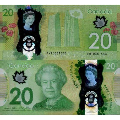 Banknoten Sammlung Kanada - PK Nr. 999 - 20 Dollar