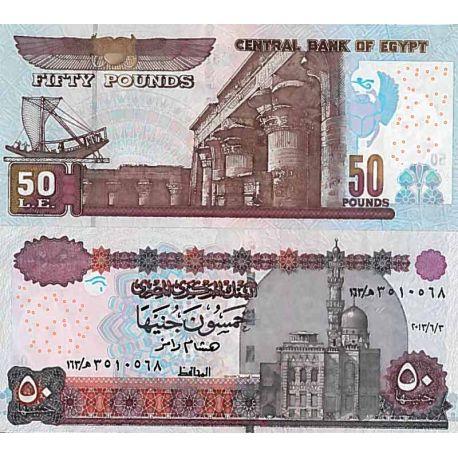 Billets de collection Billet de banque collection Egypte - PK N° 66 - 50 Pounds Billets d'Egypte 22,00 €