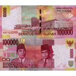 Billet de banque collection Indonesie - PK N° 153 - 100 000 Rupiah