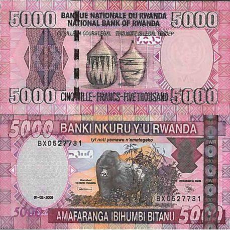 Billet de banque collection Rwanda - PK N° 33 - 5000 Francs