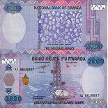 Banknote Rwanda collection - Pick N° 40 - 2000 Francs