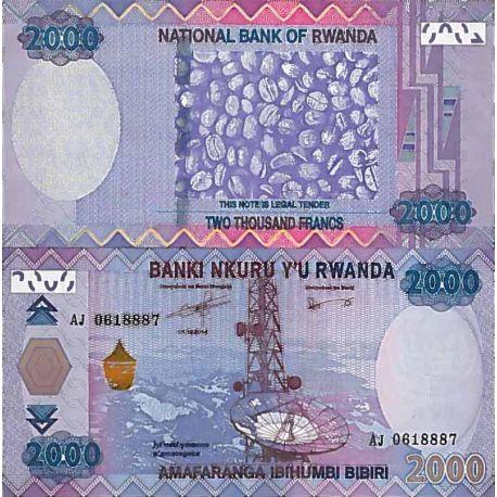 Billete de banco colección Ruanda - PK N° 999 - 2000 Francos