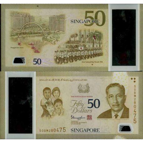 Banknoten Sammlung Singapur - PK Nr. 999 - 50 Dollar