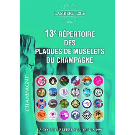 Le répertoire Lambert des plaques de muselet de champagne