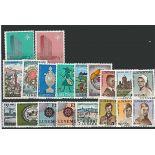 Luxemburg Jahr 1967 vervollständigt neue Briefmarken