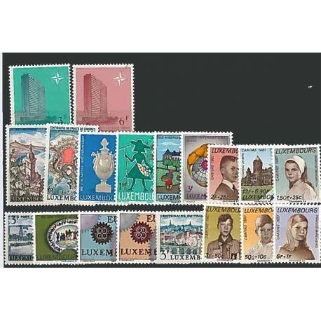 Postfrisch Breifmarken Luxemburgs komplette Jahre 1967