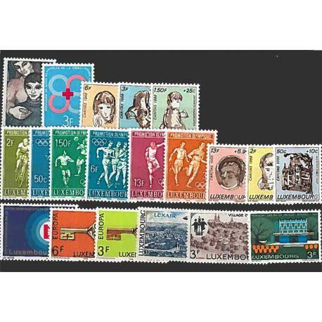 Francobolli nuovo non linguellato Anno completo 1968 del Lussemburgo