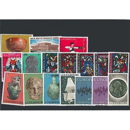Postfrisch Breifmarken Luxemburgs komplette Jahre 1972