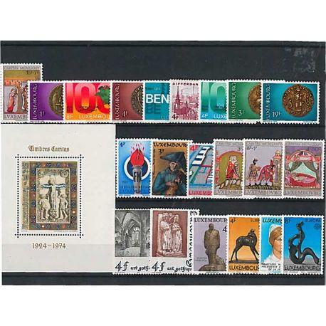 Postfrisch Breifmarken Luxemburgs komplette Jahre 1974