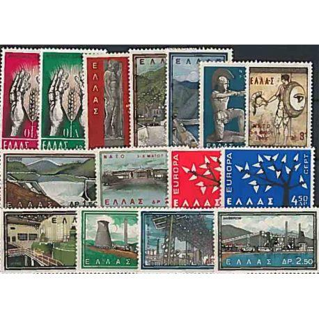 Año completo Sellos nuevos sin charnela 1962 de Grecia