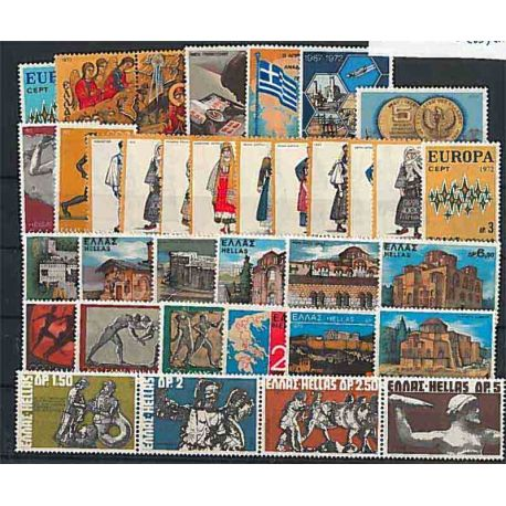 Año completo Sellos nuevos sin charnela 1972 de Grecia
