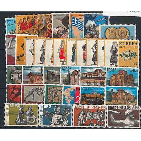 Komplette Jahr 1972 Griechenlands Postfrisch Breifmarken