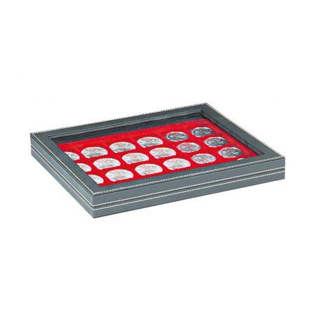 Coffret NERA M avec fenêtre pour 35 pièces de 2 euros sous capsules